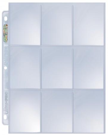 Folha UltraPRO para fichário UltraPRO Platinum 9 bolsos (3 furos)